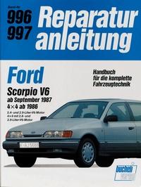 Ford Scorpio V6   ab September 1987 /  4x4 ab 1986 - Reprint der 8. Auflage 1989