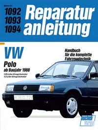 VW Polo ab Baujahr 1988 - 1.05-Liter-Einspritzmotor/1.3-Liter-Einspritzmotor // Reprint der 9. Aufl. 1991