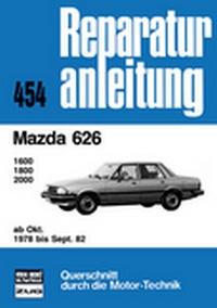 Mazda  626    ab Oktober 1978 bis September 1982 - 1600/1800/2000    //  Reprint der 5. Auflage 1986