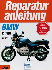 BMW K 100 RS / K 100 RT   Bj 1986-1991 - In Längsricht.liegend angeordn.Viertakt-Reihenmotor, 2 obenl.Nockenwellen,Flüssigkeitskühlung