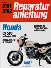Honda CX 500/650  GL 500/650  ab 1978 - Wassergekühlter 4-Takt-Motor, obengestr. Ventile, V-Motor mit 2 Zyl. und 4 Ventilen