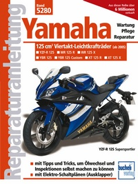 Yamaha 125-ccm-Viertakt-Leichtkrafträder ab Modelljahr 2005 - YBR 125 (Allrounder),  XT 125 R (Enduro), XT 125 X (Supermoto), YZF-R (Supersportler)
