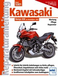 Kawasaki Versys 650 ccm - mit und ohne ABS ab Modelljahr 2007