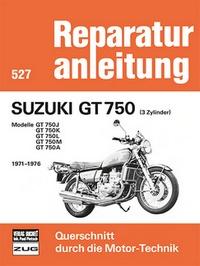 Suzuki GT 750   (3 Zylinder)  1971-1976 - Modelle GT 750J/750K/750L/750M/750A