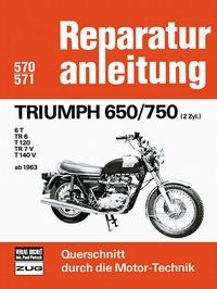 Triumph 650/750  (2Zyl.) ab 1963 - 6 T/ TR 6/ T 120/ TR 7V/ T140 V